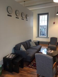 More informal meeting areas