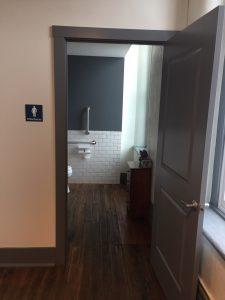 Clean, new restrooms
